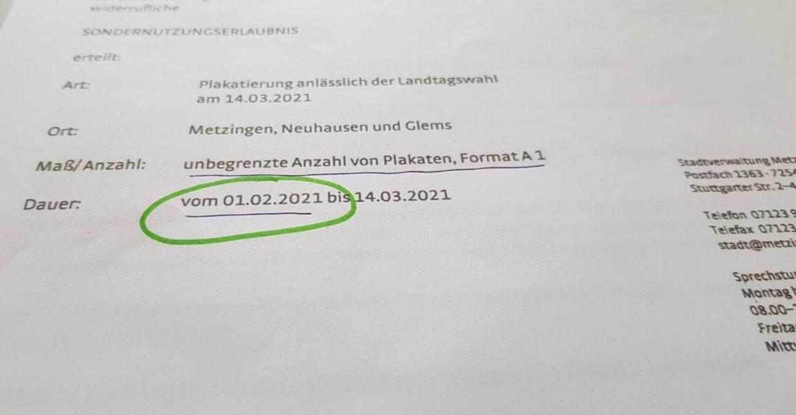 Zu früh plakatiert: AfD-Kandidat Steyer kritisiert Mitbewerber von CDU und SPD für Ordnungswidrigkeit