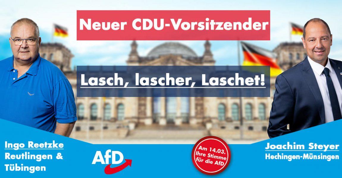"""Reaktion auf CDU-Vorstandswahl: AfD-Kandidaten im Kreis sehen unter Laschet ein """"Weiter so"""""""