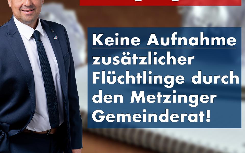 Zusätzliche Flüchtlings-Aufnahme in Metzingen? AfD-Landtagskandidat Steyer begrüßt Ablehnung durch den Gemeinderat