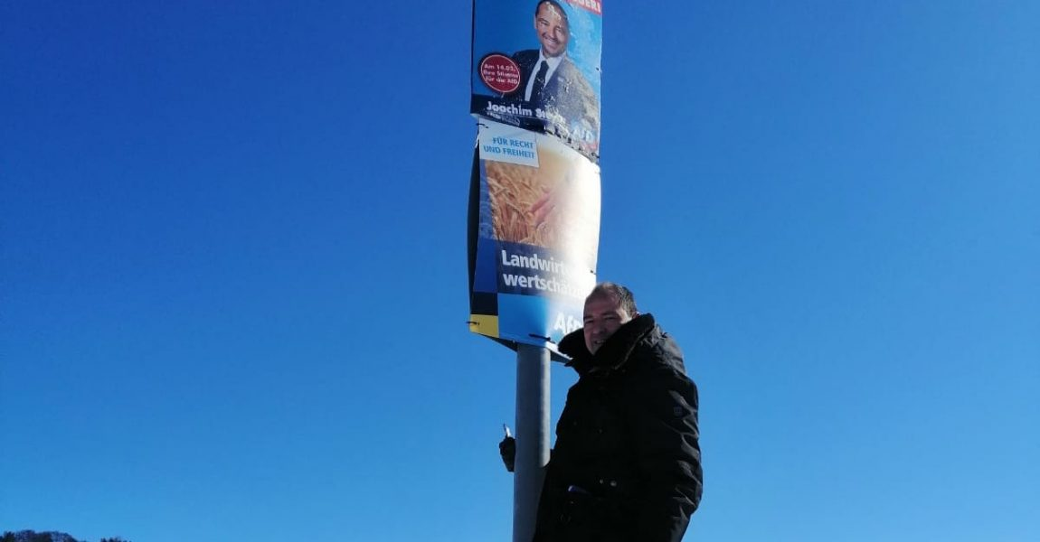 AfD-Plakate in Metzingen und Burladingen zerstört: Landtagskandidat Steyer erstattet Anzeige
